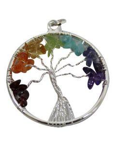 PENDANT CHAKRA TREE-SILVER