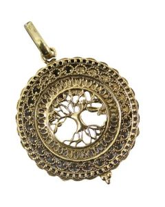 TREE OF LIFE BRASS PENDANT