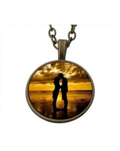 Lucky Pendant Lovers at the Beach 22mm