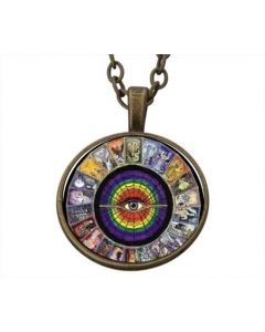 Lucky Pendant Tarot Wheel  22mm