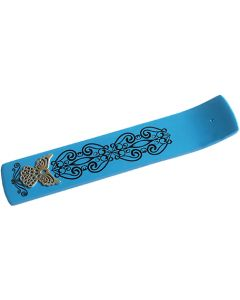 Wooden Incenseholder Turquoise with Angel