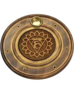 Round Incense burner Throat Chakra 10cm