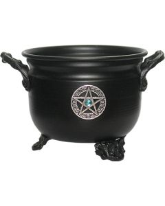 METAL CAULDRON-METAL PENTACLE