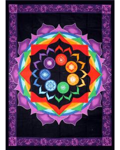 Cotton RainBow Chakra Tapestry 130cm x 190cm
