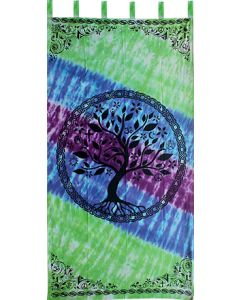 "Cotton Curtain  44x88""  Tree of Life"
