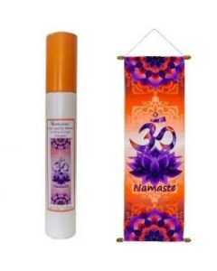 High Quality French Crepe Banner Namaste 36 x 90 cms