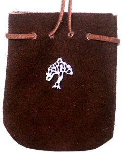 SUEDE POUCH BROWN- TREE