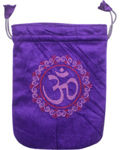 Velvet Bag - Purple Unlined Pentacle