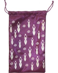 "SYTH. SILK BAG 5X8""-MOON GODDESS ON PURPLE"