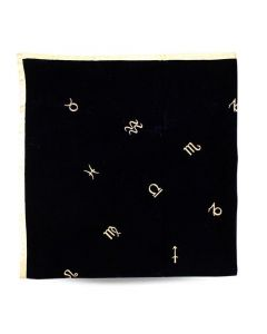 VELVET TABLE CLOTH-ZODIAC 32X32""
