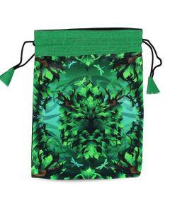 Green Man Printed Bag 15x20 cm