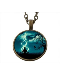 Lucky Pendant Meditating  22mm