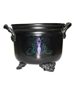 INCENSE CAULDRON - BLACK METAL 4.5 GODESS -64009