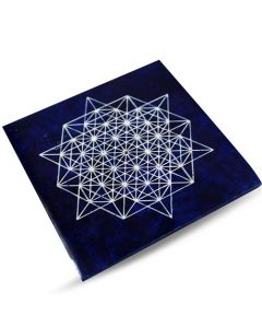 Blue Soapstone Metatron Cube Incense Holder