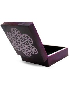Flower of Life Soapstone box