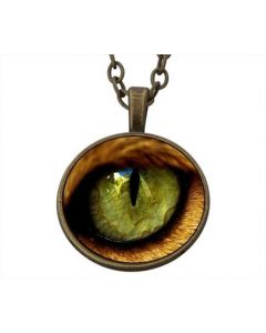 Lucky pendant Green Cat Eye Love incl. chain