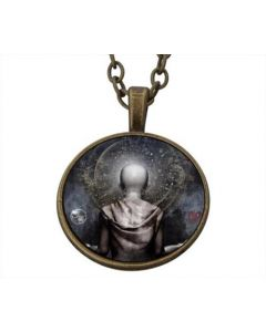 Lucky Pendant Meditating Monk incl. chain