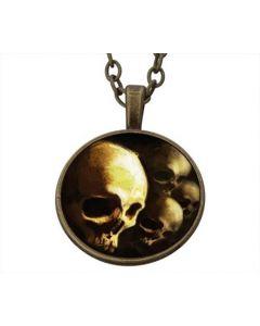 Lucky Pendant Human Skulls 22mm
