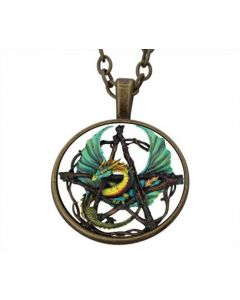 Lucky Pendant Green Dragon incl. chain