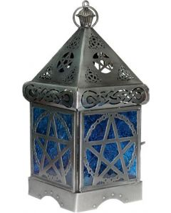 Iron & Glass Lantern PENTACLE