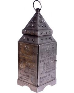 LANTERN MAGIC SILVER ANTIQUE 12 x 4.5 in