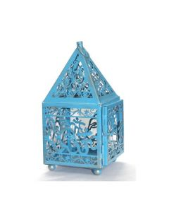 LANTERN (NO GLASS) BLUE-GANESHA