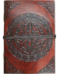 LEATHER JOURNAL - LEATHER CORD TO WRAP AROUND CELTIC 3 x 4""
