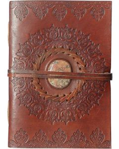 LEATHER JOURNAL - LEATHER CORD TO WRAP AROUND LOTUS WITH STO