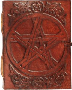 Leather Journal Pentagram  3x4""