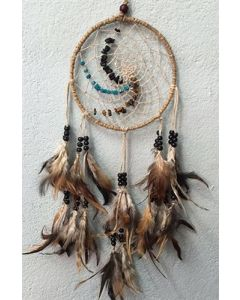 DREAMCATCHER HEMP CORD-NATURAL WITH CHIPS STONE