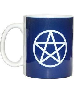 Ceramic White Coffee Mug Pentagram