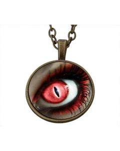Lucky Pendant Purple Heart  Red Eye Love incl. chain