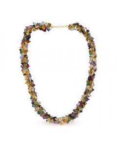 Positivity Necklace with Precious Stones