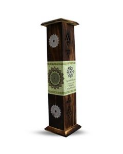 Green Tree Tower Incense Burner with Mandala