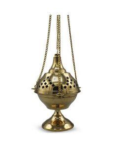 Brass Hanging Incense Holder (20cm)