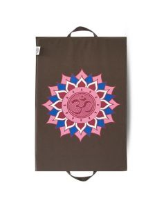 Spike Mat Om Lotus Print (68 x 42 cm) In Grey