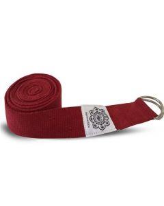 Green Tree Red Yoga Belt 100% Cotton 38 Mm X 2,5 Mm
