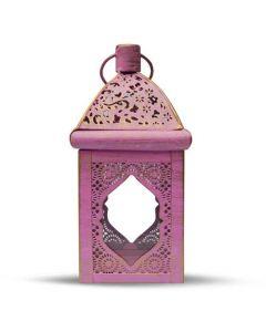 Lantern Oriental Chique Pink/Gold 21 cm