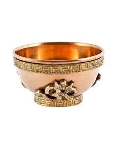 Tibetan Incense Burner / Copper Ohm Offering Bowl