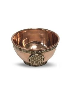 Offering Bowl Brass Flower of life