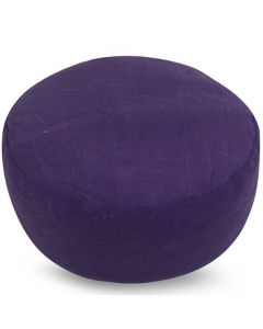 Meditation Cushion Round Plain Purple Stonewash Buckwheat Fi