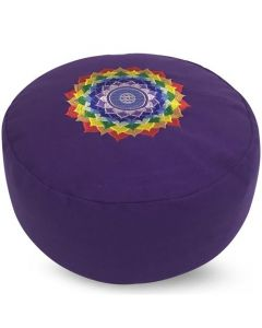 Meditation Cushion Round Chakra Lotus Purple Buckwheat Fille