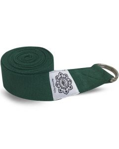 Green Cotton Yoga 8 Ft. Strap With Wrapped  1.5'' D-Ring