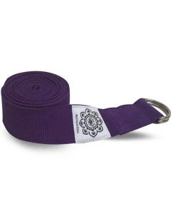 Purple Cotton Yoga 8 Ft. Strap With Wrapped  1.5'' D-Ring