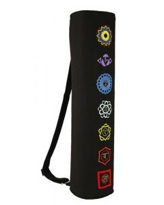 Yoga Mat Bag 7 Chakras Black