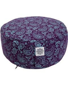 Meditation Cushion Turquoise/Purple Dyed Cotton Canvas