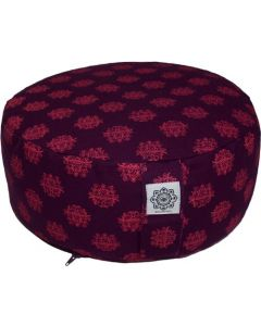 Meditation Cushion Purple & Pink Dyed Cotton Canvas