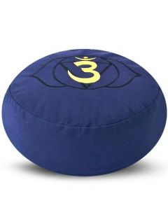 Meditation Cushion Round Third Eye Chakra Buckwheat Filled