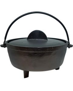 17cm Flat Cast Iron Cauldron