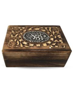 Handcrafted Flowerful Elephant Tarot Box